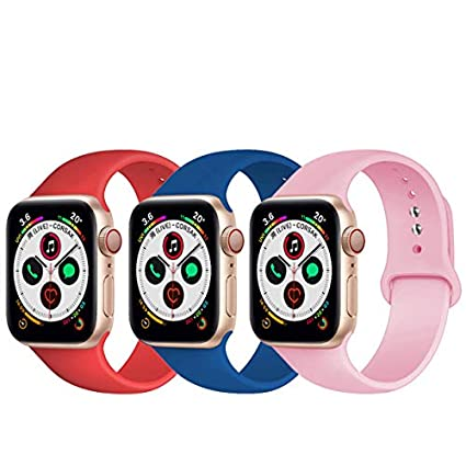 Mucson Watch Band Compatible with Apple Watch Band Series 4 3 2 1 Replacement Nike Sport Iwatch Band 44mm 42mm 40mm 38mm with Screen Protector Watch ...
