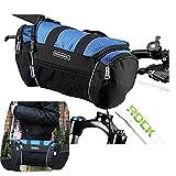Roswheel Bicycle Bags Bike Handlebar Front Frame Tube Basket Pocket Shoulder Pack Riding Cycling Supplies(Blue color) 5L