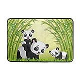 Chen Miranda Cute Panda Bamboo Door Mat Carpets Indoor Outdoor Area Rugs Office Door Mat Non-slip for Bedroom Bathroom Living Room Kitchen Home Decorative 23.6x15.7 inch Lightweight