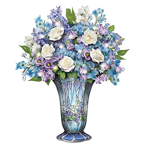 Timeless Beauty Always in Bloom Light Up Floral Centerpiece by The Bradford - Tiffany Exchange