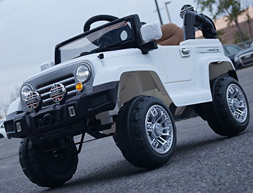 Ride-on-car-power-wheels-jeep-white-cars-for-kids-With-Parent-REMOTE-Control-car-for-children-to-ride-Opening-doors-Motors-2-Voltage-12v-4ah-electric-cars-for-kids-from-2-to-5-years