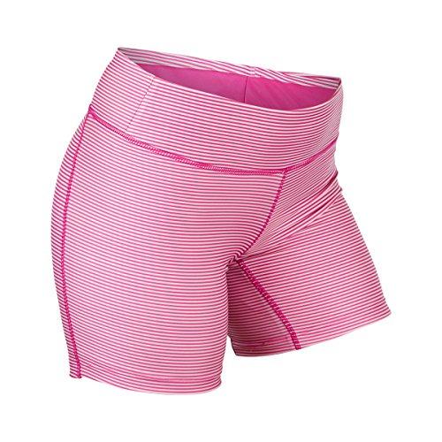 (UV SKINZ UPF50+ Womens Active Swim Shorts-Hot Pink Stripes-3XL)