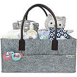 Baby Diaper Caddy | Nursery Storage Bin | Portable Car...