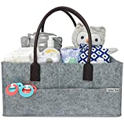 Baby Diaper Caddy | Nursery Storage Bin | Portable Car Travel Organizer