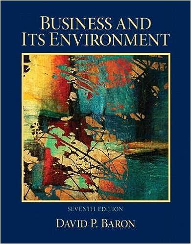 Amazon Com Business And Its Environment 9780132620550 Baron David Books