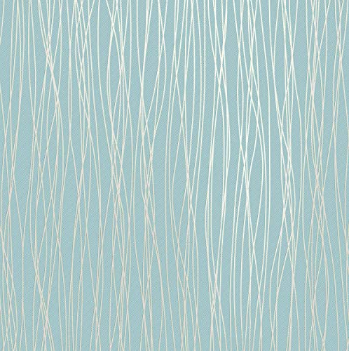 Modern Wallpaper Stripe (Mavee Non-Woven 3D Wallpaper, Print Embossed, Blue Modern Stripe Fashion Wallpaper for Livingroom, Bedroom, Kitchen and Bathroom, (20.8In x 32.8Ft))