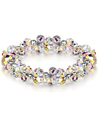 Barcelet ♥Gifts for Her♥ When in Rome 7 Inches Stretch Bracelet Made with Swarovski Crystals - A Little Romance Series