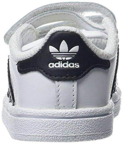 adidas Unisex Baby Superstar CF I Lauflernschuhe Elfenbein (Ftwr White/core Black/ftwr White)