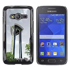TopCaseStore / la caja del caucho duro de la cubierta de protección de la piel - Architecture Moden City Abstract Building - Samsung Galaxy Ace 4 G313 SM-G313F