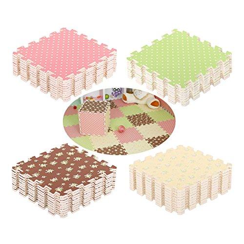 E Support™ 9pcs 30x30x1cm Neu Kinderteppich Schaumstoffmatte Matte Spaß Kind Weiche EVA GYM Puzzle DIY Spielzeug Bodenfliese Spiel Spielteppich Schaumstoff Puzzle Kinderteppich