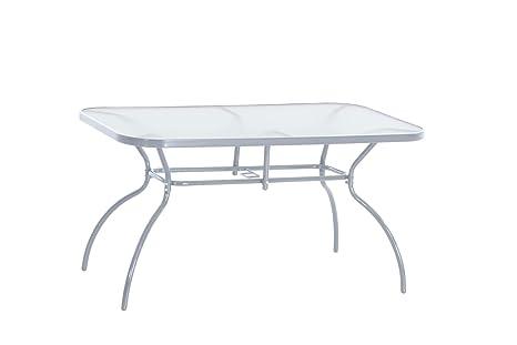 greemotion Table de jardin métal Prag 140 x 80 cm - Table ...