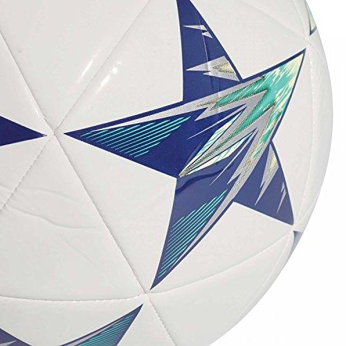 adidas Herren Finale Kiev Ball, Blanc/Noir/Jaune Solaire/Bleu, Einheitsgröße white/black/unity ink/hi-res green s18