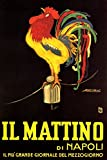 IL MATTINO DI NAPOLI ITALIAN NEWSPAPER ROOSTER CLUCKING ITALY 16'' X 24'' IMAGE SIZE VINTAGE POSTER REPRO