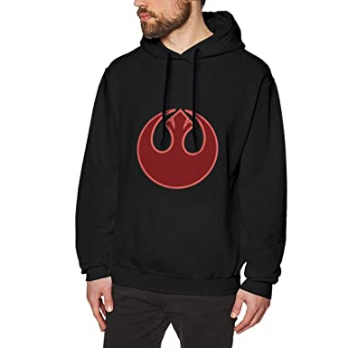 e2c6aeb971e Image Unavailable. Image not available for. Color  Star Wars Rebel Alliance  Symbol Applique Men s Pullover Hoodie