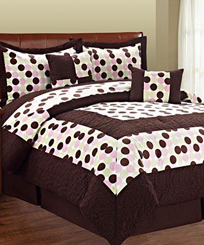Serenta 6 Piece Big Dots Microfiber Comforter Bed in a Ba...