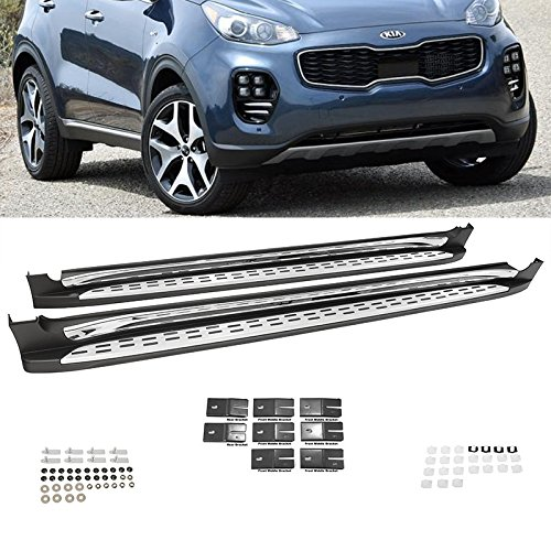 - Side Steps for Kia Sportage 2017-2018 Running Boards Nerf Bars Aluminum Rails