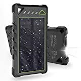 Solar Charger, BEARTWO 10000mAh Upgrade 2020