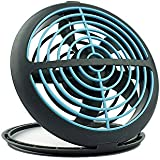 MOUCHIN 0605 Mini USB Table Desk Personal Fan,UFO Fold Portable Design,Quiet Operation,High Compatibility, 2Colors (Blue Grey)