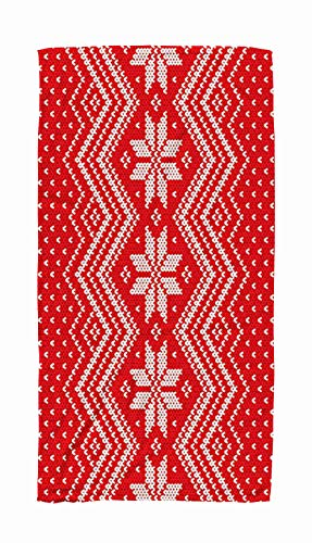 Asdecmoly Swimming Towel Cloth Quick-Drying Bath Towel 30X60 Inch Traditional Fair Isle Style Knitting Pattern Winter Holiday Knitted Sweater Design Outdoor Beach Towel Travel Camping Spa Blanket