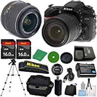 ZeeTech Ultimate Bundle for D7200 DSLR Body, 18-55mm VR Lens, 2pcs 16GB ZeeTech Memory, Camera Case