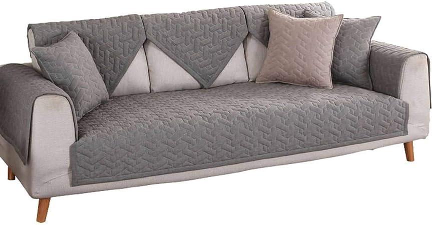 ZHFEL Acolchado Funda De Sofá Algodón,Antideslizante Cubre Sofas Espesar 3 Plaza Muebles Protector Couch Funda Multifuncional para Combinación Sofá Mascotas Gato Perro-43x94-A: Amazon.es: Hogar