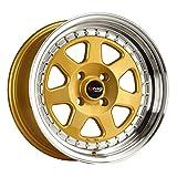 Drag Wheels DR-27 15x7/ 4x100 et10 Gold rims