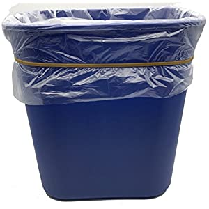 "Garbage Trash Can Rubber Bands Large Size 17"" Inch Rubberbands for Kitchen Compactor, Tote Bin 55-65 Gallon also fits 95, 96-100 Gal Toter. Big bag liner holder for 55 Drums Litter Pails or Buckets"