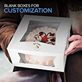 Stock Your Home 10 Inch Cake Box & Board in White