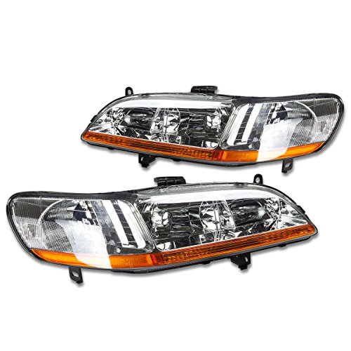 DNA Motoring HL-OH-HA98-CH-AB Headlight Assembly, Driver and Passenger Side ()