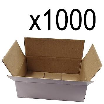 1000 – 6 x 4 x 2 blanco corrugado envío Mailer – Caja de envío cajas