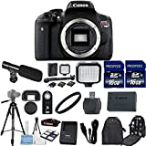 Canon EOS Rebel T6i 24.2 MP Digital SLR Camera Body Only with 2pc Commander 16GB Memory Cards + LED Light + Card Reader + UV Filter + Backpack Case + Tripod (14 Items)