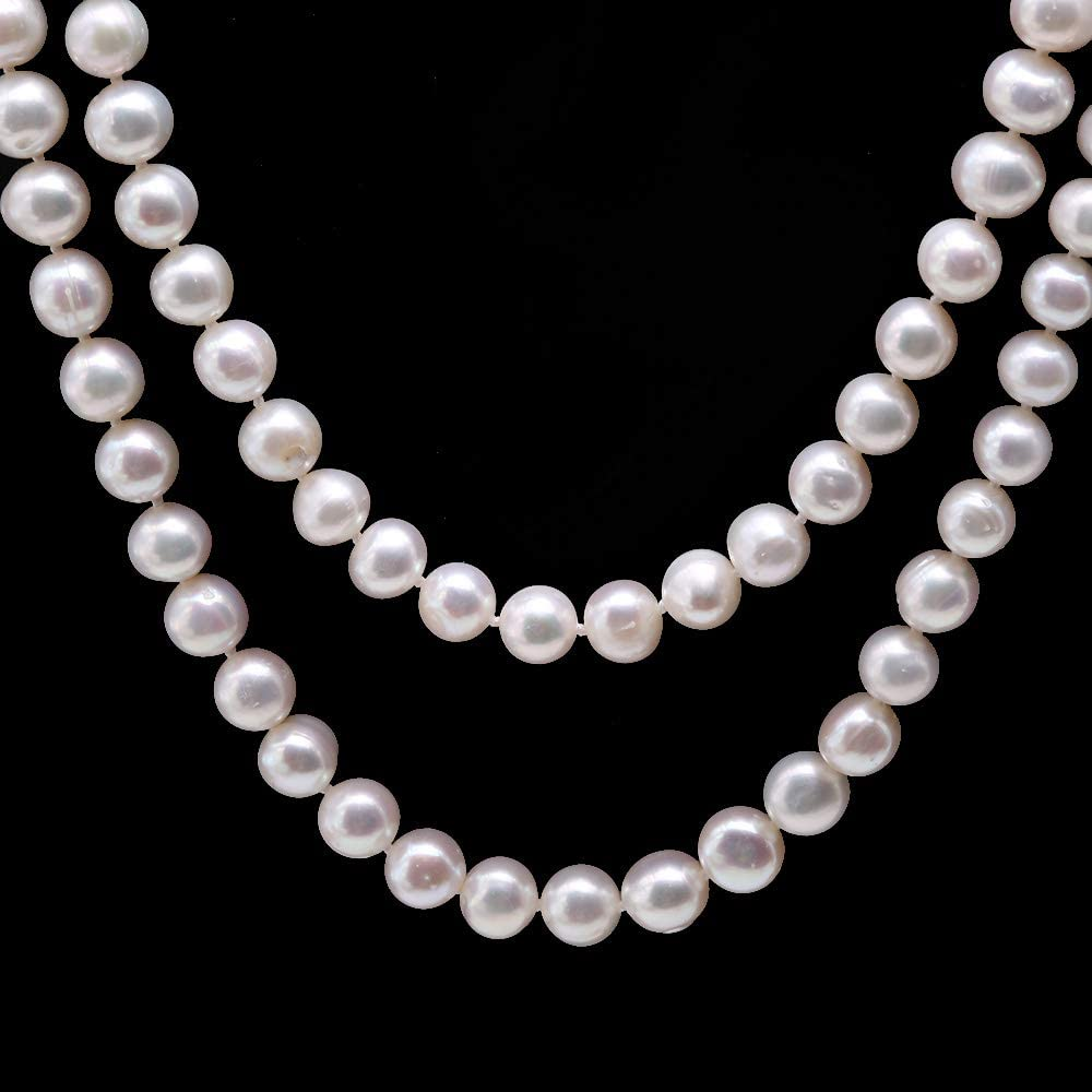 Tooth pearl 8-9mm Keshi pearl side drilled Loose pearl Freshwater pearl necklace purple 48pcs Bridal design wedding Full Strand PL4447