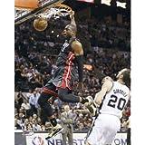 2013 NBA Finals Dwayne Wade Dunk Miami Heat Glossy Photograph Photo