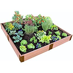"Frame It All 300001099 2"" Series Composite Raised Garden Bed Kit, 8' x 8' x 11"""