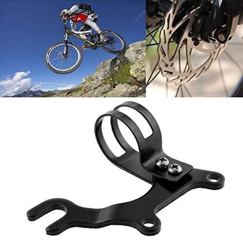 Zebra-Crossing Adjustable 31.88MM Bicycle Cycling Front Wheel Disc Brake Bracket Bike Frame Adapter Mounting
