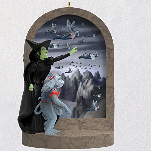 Hallmark Keepsake Christmas Ornament 2018 Year Dated, The Wizard of Oz Collectibles Wicked Witch of The West Monkey Business with Sound