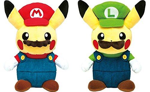 Pokemon Center limited Mario Pikachu Mario Luigi Set of 2