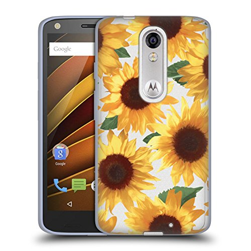 Feuvre Big Happy Yellow Sunflowers Florals 4 Soft Gel Case for Droid Turbo 2 / X Force ()