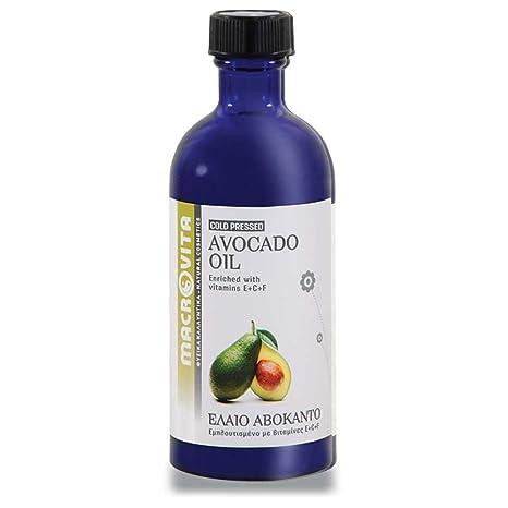 macrovita aceite de aguacate con complejo de vitamina E + C + F 100 ml.