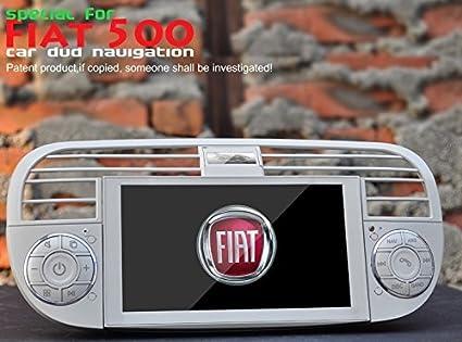Autoradio AGW per Fiat 500 Beige HD GPS DIVX DVD PIP MP3 USB SD