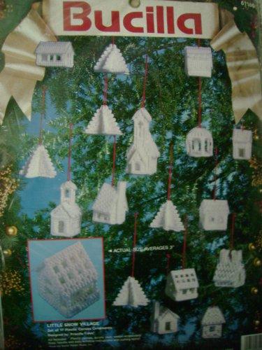 Little Snow Village Plastic Canvas Kit by Bucilla