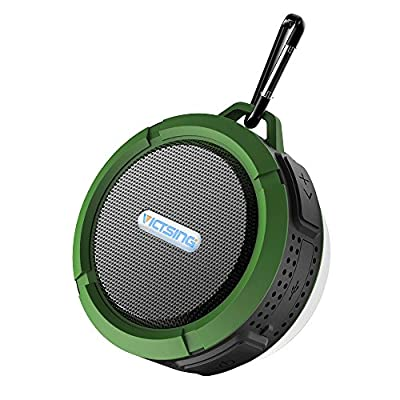 VicTsing Wireless Bluetooth 3.0 Waterproof Outdoor & Shower Speaker with 5W Speaker/Suction Cup/Mic/Hands-Free Speakerphone