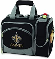 NFL New Orleans Saints Malibu Insulated Shoulder Pack with Deluxe Picnic Service for Two