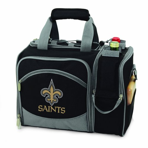 Cheap NFL New Orleans Saints Malibu Insulated Shoulder Pack with Deluxe Picnic Service for Two