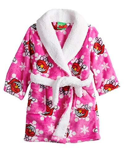 (Sesame Street Little Girls Toddler Elmo Plush Robe, Pink, 2T)