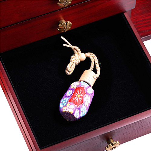 Wooden Jewelry Box Cabinet Armoire Ring Necklacel Gift Storage Box(CHERRY-2) by Rowling (Image #9)
