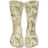 Women's Men's Classics Socks Seashells Starfish Marine Athletic Stockings 30cm Long Sock One Size