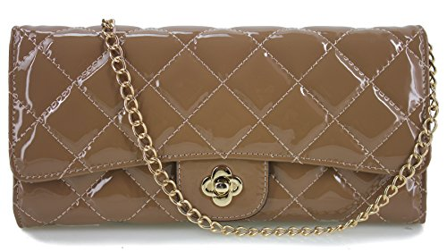 Quilted Patent Leather Clutch - 8
