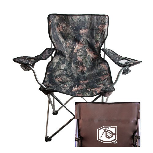 CollegeFanGear Cameron Hunt Valley Camo Captains Chair 'Official Logo' ()