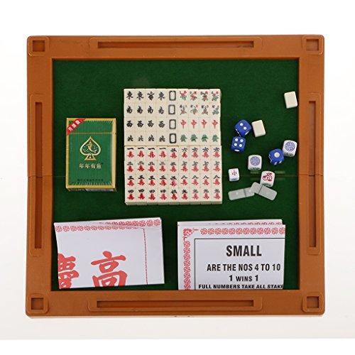 【ノーブランド 品】18mm ミニ マージャン 中国 伝統的 パーティーゲーム コレクション アイボリー色 贈り物
